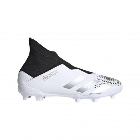 adidas Predator junior 20.3 LaceLess FG blanc noir 20.3 LL FG J