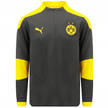 Sweat zippé junior Dortmund gris jaune 2020/21