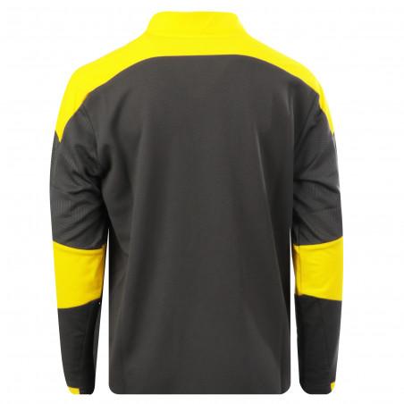 Sweat zippé junior Dortmund gris jaune 2020/21