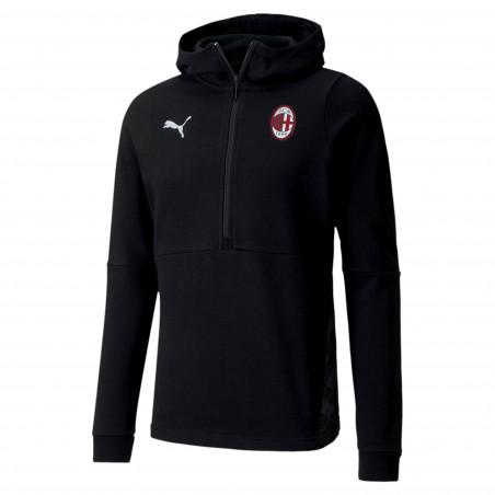 Sweat zippé capuche Milan AC noir 2020/21
