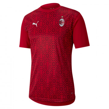 Maillot avant match Milan AC rouge 2020/21