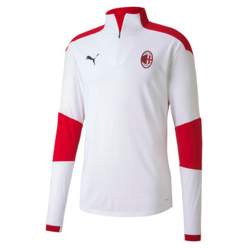 Sweat zippé Milan AC blanc rouge 2020/21