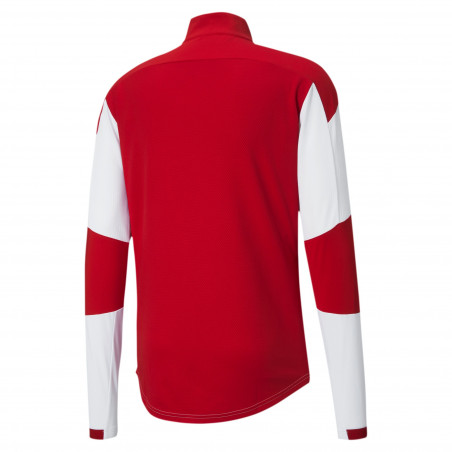 Sweat zippé Milan AC blanc rouge 2020/21