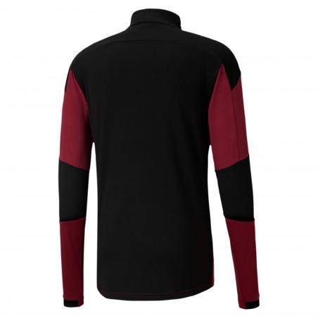 Sweat zippé Milan AC rouge noir 2020/21