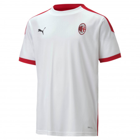 Maillot entraînement junior Milan AC blanc rouge 2020/21