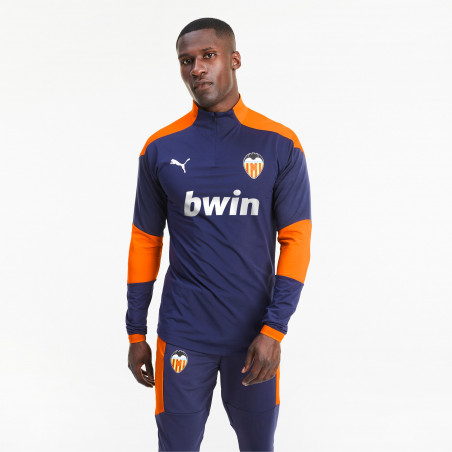 Sweat zippé Valence bleu orange 2020/21