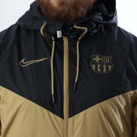 Coupe vent FC Barcelone noir or 2020/21