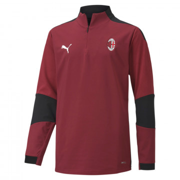 Sweat zippé junior Milan AC rouge noir 2020/21