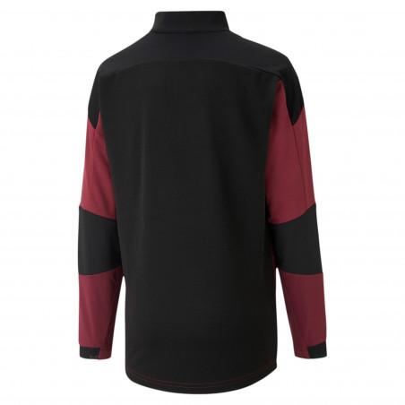 Sweat zippé junior Milan AC rouge noir 2020/21