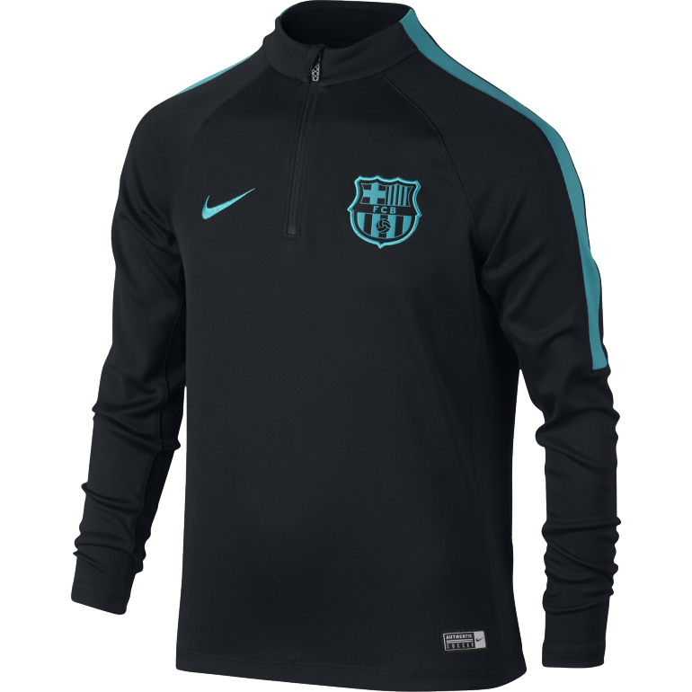 Sweat zippé Squad junior FC Barcelone 2016 - 2017