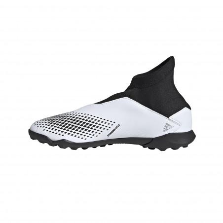 adidas Predator junior 20.3 LaceLess Turf blanc noir