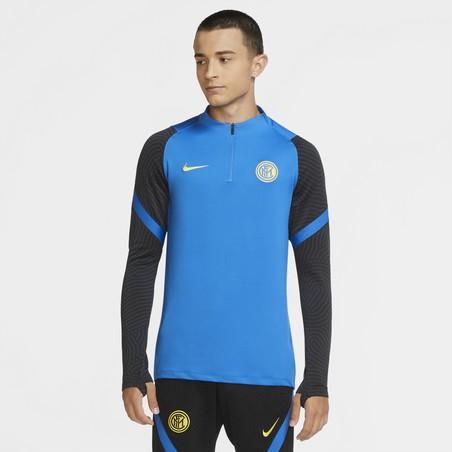 Sweat zippé Inter Milan bleu jaune 2020/21