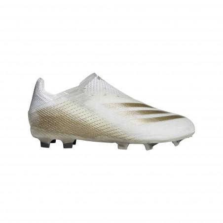adidas X Ghosted + junior FG blanc or