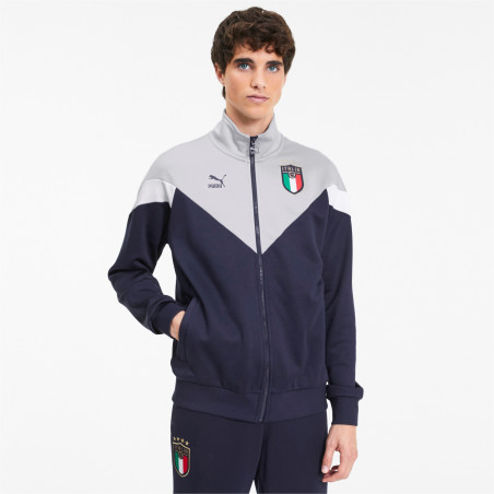 Veste survêtement Italie Iconic bleu gris 2020