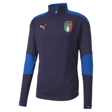Sweat zippé Italie bleu 2020