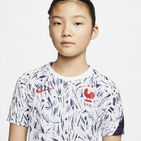 Maillot avant match junior Equipe de France blanc 2020