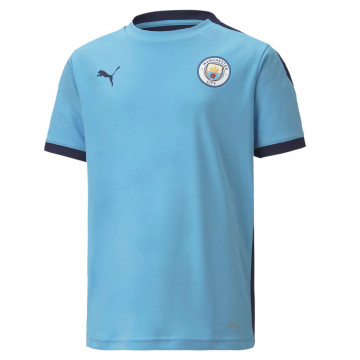 Maillot entraînement junior Manchester City bleu 2020/21