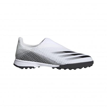 adidas X junior GHOSTED.3 LaceLess Turf blanc noir