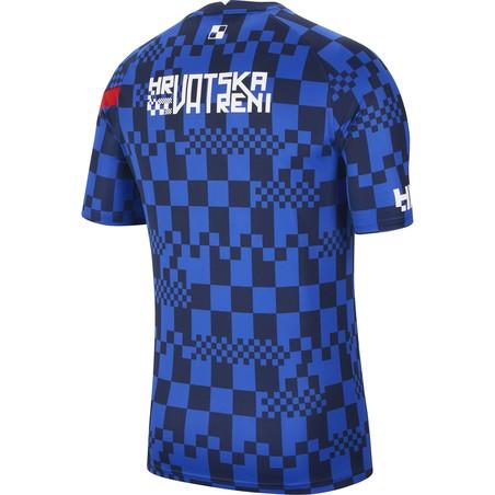 Maillot avant match Croatie bleu 2020