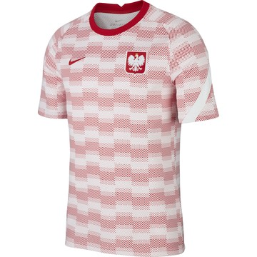 Maillot avant match Pologne blanc rouge 2020