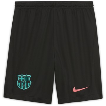 Short junior FC Barcelone third noir 2020/21
