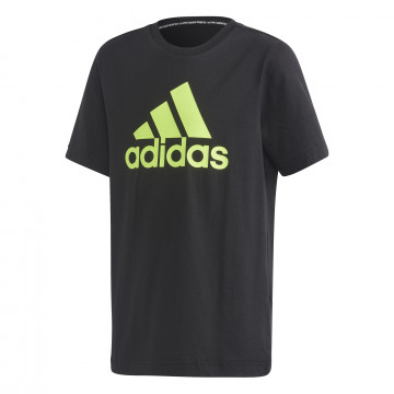 T-shirt junior adidas noir jaune