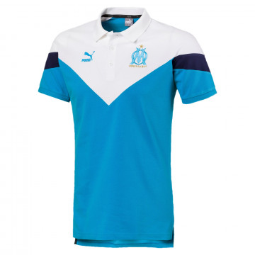 Polo OM Iconic bleu blanc 2019/20