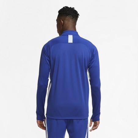 Sweat zippé Nike Academy bleu blanc