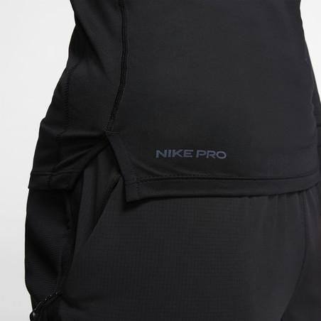 Sous-maillot manches longues Nike Pro col montant noir