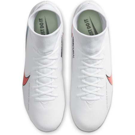 Nike Mercurial Superfly VII Academy FG/MG blanc rouge