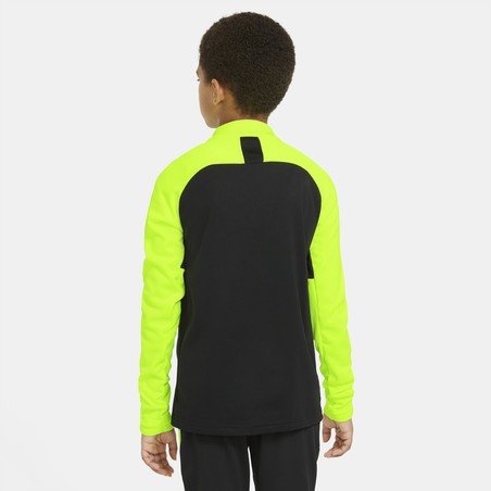 Sweat zippé junior Nike Dry PAD noir jaune