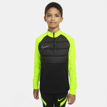 Sweat zippé junior Nike Dry PAD noir jaune
