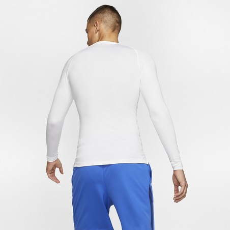 Sous-maillot manches longues Nike Pro blanc