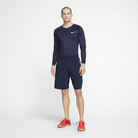 Sous-maillot manches longues Nike Pro bleu