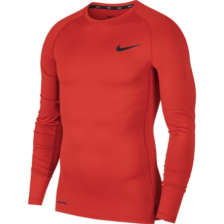 Sous-maillot manches longues Nike Pro rouge