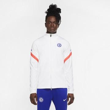 Veste survêtement junior Chelsea blanc rouge 2020/21