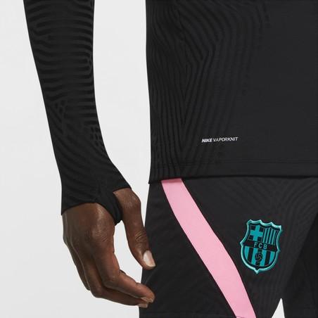 Sweat zippé FC Barcelone VaporKnit noir bleu 2020/21
