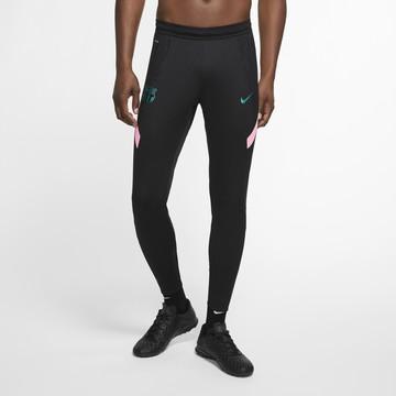 Pantalon survêtement FC Barcelone VaporKnit noir rose 2020/21