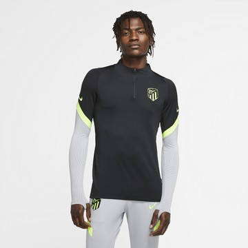 Sweat zippé Atlético Madrid noir jaune 2020/21