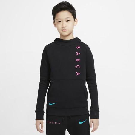 Sweat à capuche junior FC Barcelone noir 2020/21
