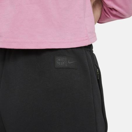 Pantalon survêtement junior FC Barcelone GFA Fleece noir 2020/21