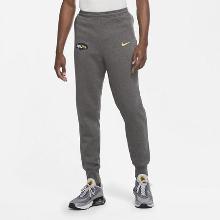 Pantalon survêtement Tottenham GFA Fleece gris jaune 2020/21