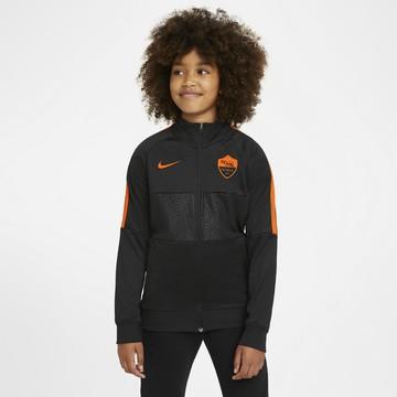 Veste survêtement junior AS Roma Anthem I96 noir orange 2020/21