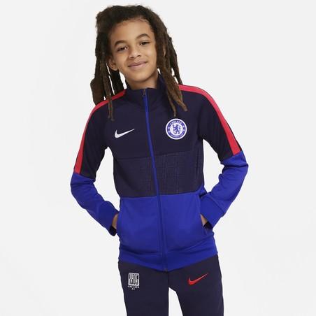 Veste survêtement junior Chelsea Anthem noir bleu 2020/21