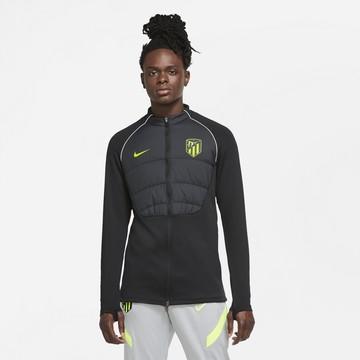 Sweat zippé Atlético Madrid Therma Strike noir jaune 2020/21