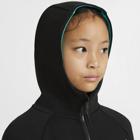 Veste survêtement junior FC Barcelone TechFleece noir vert 2020/21