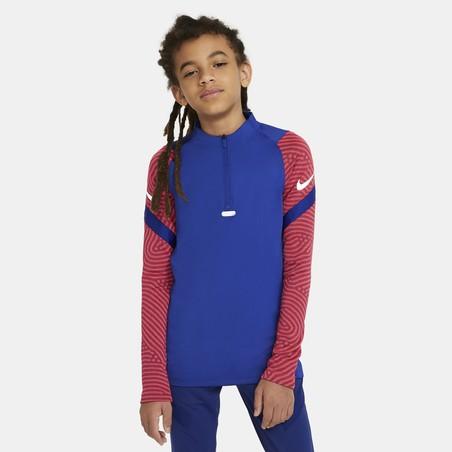 Sweat zippé junior Nike Strike bleu rouge