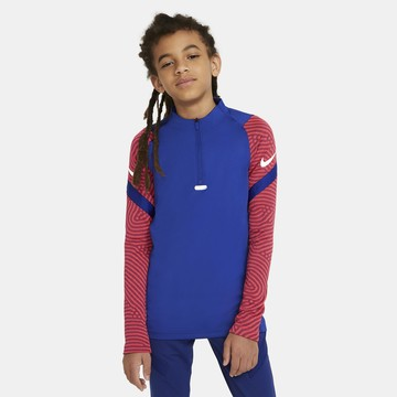 Sweat zippé junior Nike Strike bleu rouge