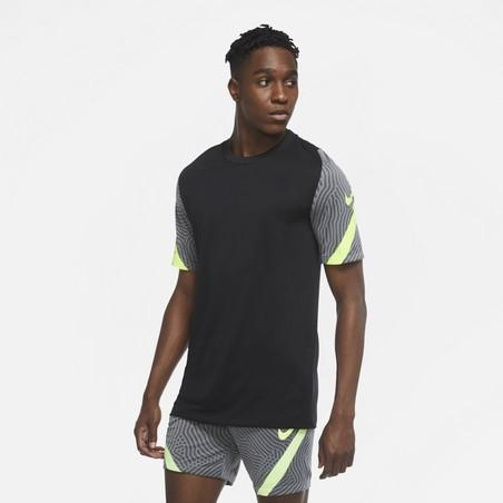 Maillot entraînement Nike Strike noir jaune