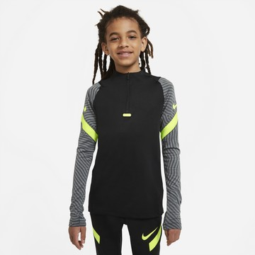 Sweat zippé junior Nike Strike noir jaune